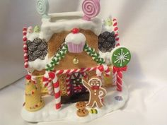 Ceramic Gingerbread House Porcelain Collectible