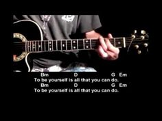 In this easy guitar lesson tutorial, you will learn how to play Be Yourself by Audioslave. The intro, chords, and lyrics are provided to help make it easier ...