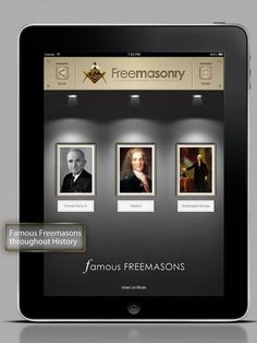 STUNNING PRESENTATION OF THE FAMOUS FREEMASONS THROUGHOUT HISTORY ...