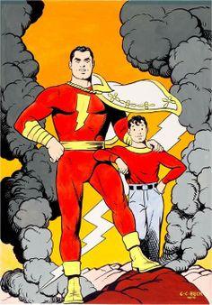 Shazam aka the original Captain Marvel by CC Beck.