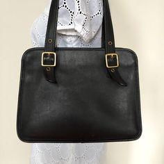 Vintage COACH Legacy Black Leather Satchel by AgisCuteCollections