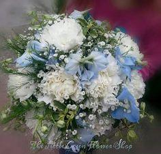 Carnation, Delphinium bridal bouquet ♡