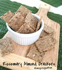 Rosemary almond crackers