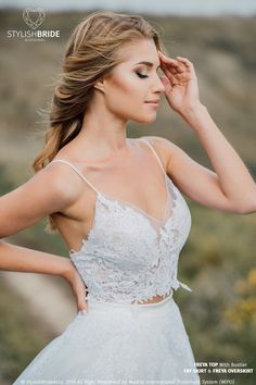 aa266b5924e Freya Lace Crop Top with Spaghetti Straps and Silk Bustier, New Boho 2019  Collection,