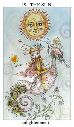 The Sun, Joie de Vivre Tarot by Paulina Cassidy, published by U.S. Games Systems, Inc