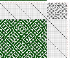 Hand Weaving Draft: Figure 2414, Atlas de 4000 Armures, Louis Serrure, 24S, 30T - Handweaving.net Hand Weaving and Draft Archive