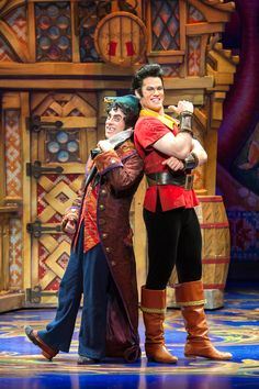 Gaston and Lefou- Beauty and the Beast musical - Broadway Tour