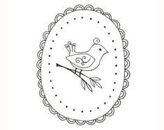 Motif Oiseau de broderie Woodland animaux Téléchargeable numérique PDF broderie à la main