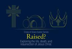 Cross of Grace's Easter Service Announcement slide.