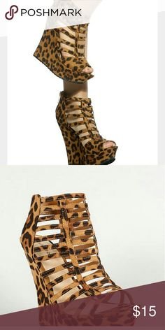 Cheatah Print Wedge Platform Heels Cheetah Print Wedge Platform Heels Very very comfortable Shoes Wedges