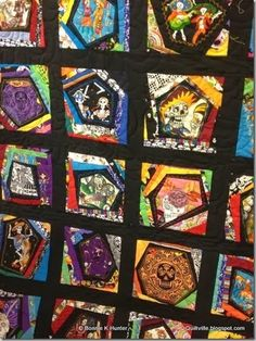 Day of the Dead Quilt | Things for My Wall | Pinterest | Quilt ... : day of the dead quilt pattern - Adamdwight.com
