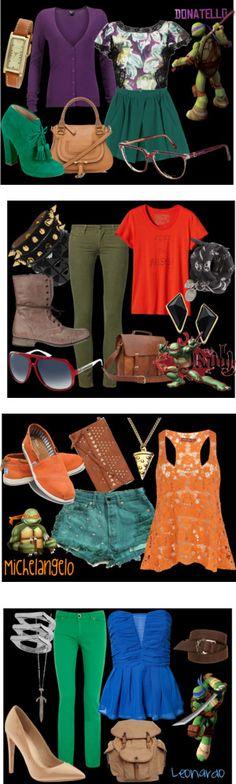 tmnt fashion by roxycn on polyvore