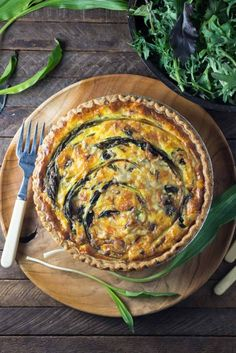 Quiche with Ramps, Bacon and Gruyere