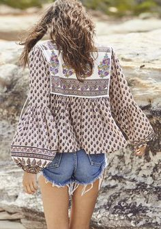 The Open Road Boho Is Best Sleeved Top Indian Princess Musk