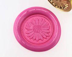 Little Daisy Wax Seal Stamp/ wax sealing kit /Custom wedding seals/wedding invitation Wax Stamp Kit, Wax Seal Stamp, Sealing Wax, Custom Stamps, Invitation Wording, Candle Wax, Wax Seals, Gaia, Envelopes