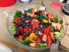 Strawberry And Mandarin Salad With Black Poppy Seeds!!