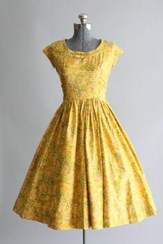 Vintage 1950s Dress. Jerry Gilden by TuesdayRoseVintage fashion