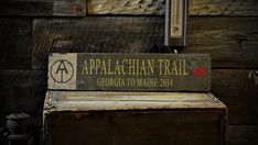 Custom Appalachian Trail Arrow Sign  Rustic by TheLiztonSignShop ORDER FOR FENCE