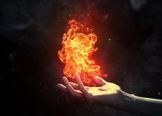The pure power of her soul sets fire in her hand. #character #Aurora