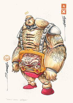 NINJAS by Clog Two, via Behance Teenage Mutant Ninja Turtles