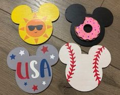 Mickey Interchangeable Home Sign - Disney Home, interchangeable shape – NotYourMommasVinyl Disney Home, Disney Diy, Disney Crafts, Birthday Cup, 3rd Birthday Parties, 2x4 Crafts, Crafts For Kids, Mickey Head, Mickey Mouse