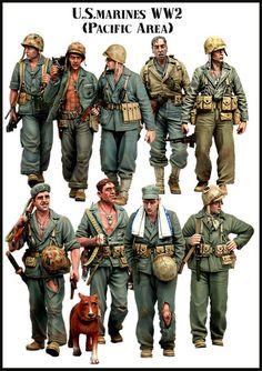 US Marines WW2 (Pacific Area) BIG set 2