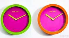 Wall Clock Pop Art 16cm Assorted