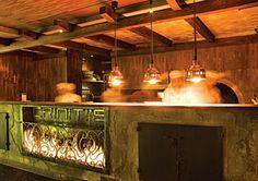 in Criniti's Restaurant, Sydney Australia Sydney Australia, Places To Eat, Beautiful Images, Liquor Cabinet, Design Inspiration, Fire, Furniture, Home Decor, Decoration Home