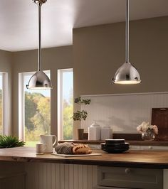 Cargo Pendant in Polished Nickel from Premium Home Interior. Industrial and cool!