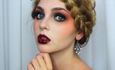 Goth Makeup for Halloween! Striking Vampire, Zombie or Dead Flapper - Jackie Wyers | ReadyCart. This pin includes all of the products you will need to get this look!
