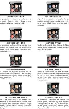 Chanel Eye Makeup Chart: How to Wear Chanel Les 4 Ombres Eye Shadow - Beautygeeks