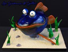 Sculpted Fish Cake Tutorial by Gilles Leblanc of Les Gateaux de Gilles