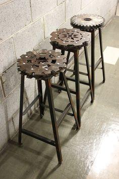 工業感 齒輪造型椅子設計 | MyDesy 淘靈感
