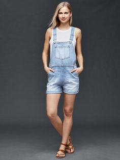 1969 denim shortalls Product Image
