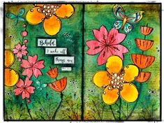 Easter Inspired Journal Page Using PaperArtsy Stamps