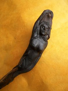 Handmade Wand-Emerging Goddess Magic Wand by LunaSolare on Etsy Wiccan Altar, Pagan, Wands, Etsy Store, Sculpting, Lion Sculpture, Statue, Sticks, Handmade