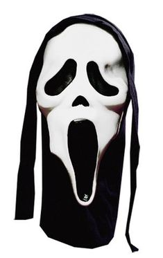Slice and Dice. This face has a white face with black cloth hood attached. Seen in The movie Scream. Buy Costumes, Cool Costumes, Halloween Costumes, Scream Franchise, Ghost Face Mask, Top Hat Costume, Ghost Faces, Half Mask, Halloween Costume Accessories