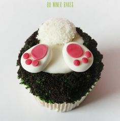 Easter cupcake bunny butt