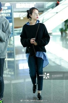 Victoria Fx, Victoria Song, Kpop Outfits, Casual Outfits, Cute Outfits, Ulzzang Fashion, Korean Fashion, Fashion Pants, Girl Fashion