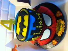 Spidey & Batman Cake!