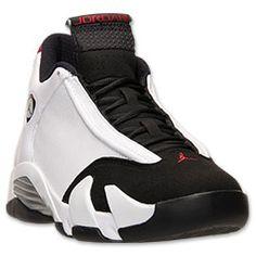 "Men's Air Jordan XIV   (14) ""Black Toe"" Retro  Basketball Shoes| White/Varsity Red/Metallic Silver - Dropping 9/20/14 for $170"
