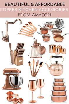 Beautiful and Affordable Copper Kitchen Essentials
