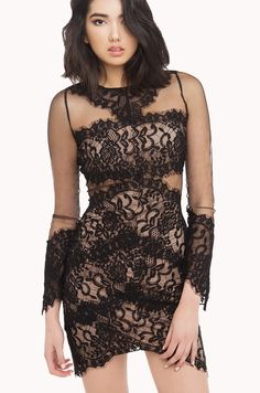 lace dress | black lace dresses | sheer, lace, mesh dresses-AKIRA