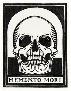 Memento Mori by Julie De Graag, 1916 - Wood Print Momento Mori Tattoo, Free Illustrations, Illustration Art, Memento Mori Art, Death Art, Arte Horror, Vanitas, Skull Print, Tattoo Ideas