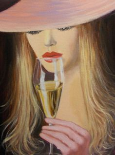 lady sipping champagne by dian bernardo