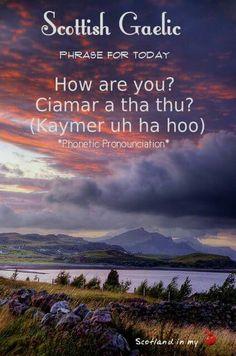Sunset on the Isle of Skye, Scotland Scottish Gaelic Phrases, Scottish Words, Scottish Quotes, Gaelic Words, Scotland History, Irish Language, Scotland Travel, Outlander, Nature