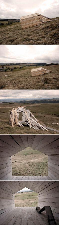 Sloping House par Atelier 37.2, Festival Arts Nature en Auvergne.