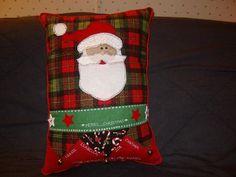 Santa - Christmas Pillow with bells - via @Craftsy