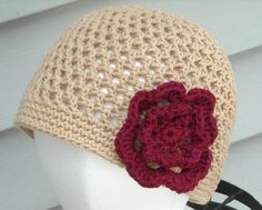 Crochet beanie taupe