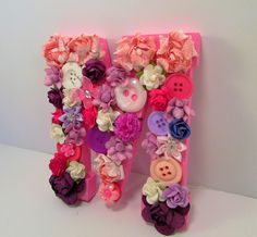 Flower letter M - Floral name letter - Nursery wall art - Nursery gift - Photography prop - Preciousgiftsbydiane - Baby shower gift - Decor by PreciousGiftsbyDiane on Etsy